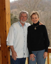 Areeda and husband Joe Stampley at home in Nashville